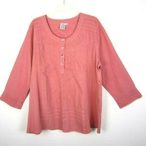 Parsley & Sage Tunic Top Boutique Brand 2X Pink